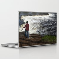 spawn Laptop & iPad Skins featuring Salmon Jump by Michael Hewitt