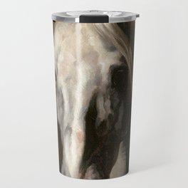 The head of white horse - Theodore Gericault Travel Mug