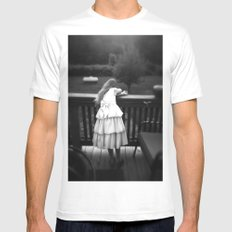 Drama Queen MEDIUM Mens Fitted Tee White