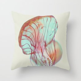 Pink Jellyfish Throw Pillow