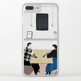Cafe Conversations Clear iPhone Case
