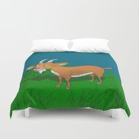goat Duvet Covers featuring  Goat  by mailboxdisco