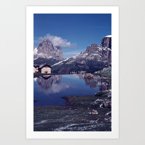 ESCAPE #2 #BLUE #Original - Peace in the Mountains Art Print