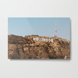 Hollywood Sign, California Retro Vintage Fine Art Landscape Photography Metal Print