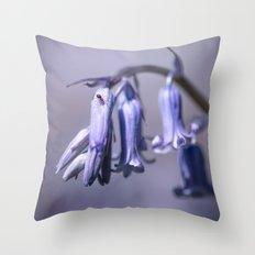 Bluebell Flower Throw Pillow