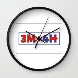 3M+4H Wall Clock