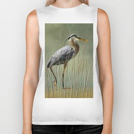 Great Blue At The Beach Biker Tank