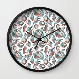 Diamonds are forever Pattern 2 Wall Clock