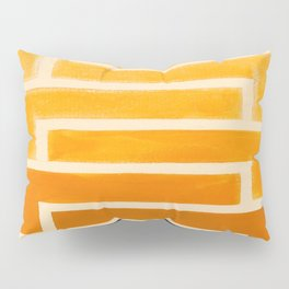 Yellow Ocher Mid Century Pattern Pillow Sham
