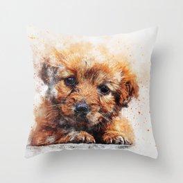 Animal Dog Puppy Cute Throw Pillow
