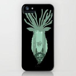 Deer Spirit Silhouette iPhone Case