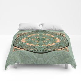 Leaf and Branch Verdigris Comforters