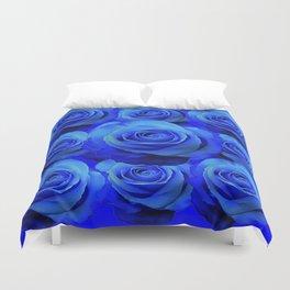 AWESOME BLUE ROSE GARDEN  PATTERN ART DESIGN Duvet Cover