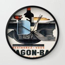 Vintage poster - Wagon-Bar Wall Clock