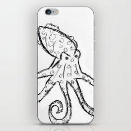 Octopus - Original Pen Ink Sketch iPhone Skin