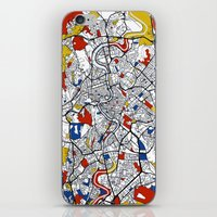 jenny liz rome iPhone & iPod Skins featuring Rome by Mondrian Maps