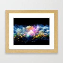 Space Clouds Framed Art Print
