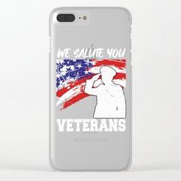 VETERAN - We Salute You Clear iPhone Case