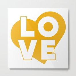 LOVE & heart // mustard Metal Print