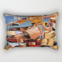 Glitch Pin-Up Redux: Zelda & Zoe Rectangular Pillow