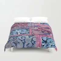 ethnic Duvet Covers featuring Ethnic by RIZA PEKER