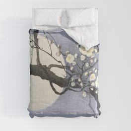 Full Moon and blossom Comforters