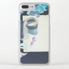 portrait: people have sides & sometimes we hide them Clear iPhone Case