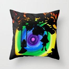 Shadowplay2 Throw Pillow