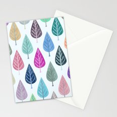 Watercolor Forest Pattern III Stationery Cards