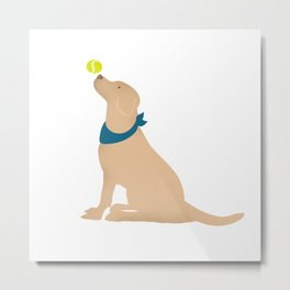 Yellow Labrador Dog Metal Print