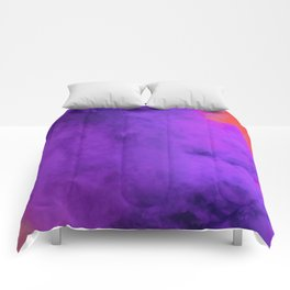 Ultra Violet Smoke Cloud (Color) Comforters