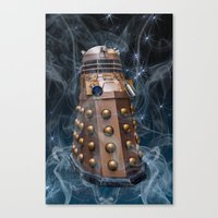 dalek Canvas Prints featuring Dalek by Steve Purnell