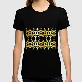 Art Deco Black Gold Pattern T-shirt