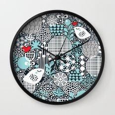 White bird. Wall Clock