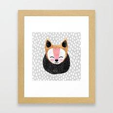 Little Arctic Fox Framed Art Print