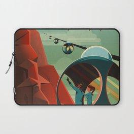 SpaceX Travel Poster: Olympus Mons, Mars Laptop Sleeve