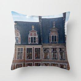 Belgian Houses Throw Pillow