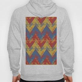 Tribal Zigzag Line Pattern Hoody