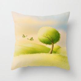 ein schöner Tag Throw Pillow