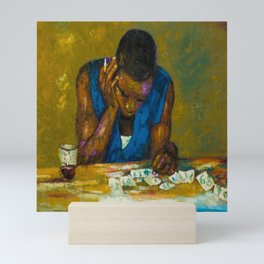 An African Young Man Studying Quietly Mini Art Print