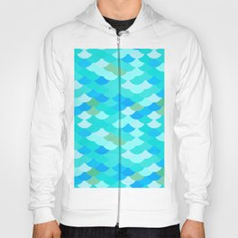 pattern scales, wave abstract simple Nature background mermaid Hoody