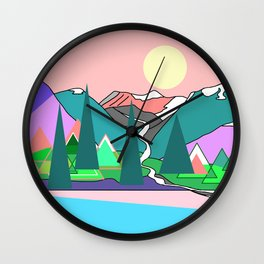 Wanderlust 2 Wall Clock