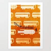 trainspotting Art Prints featuring Trainspotting by grrrenadine