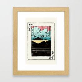 Ace of Aloha Framed Art Print