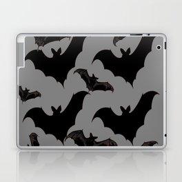 HALLOWEEN BATS ON CHARCOAL GREY WILDLIFE ART Laptop & iPad Skin