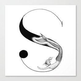 Mermaid Alphabet - S Canvas Print
