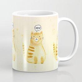 Watercolor Orange Cat Coffee Mug