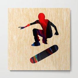 Skateboard Metal Print