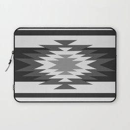 Aztec - black and white Laptop Sleeve