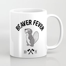 Beaver Fever - Black and White Coffee Mug